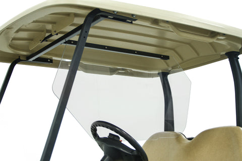 Safe Wedge Protective Partition installed in a Club Car Precedent golf cart