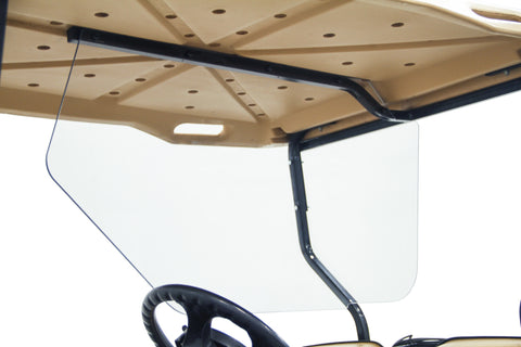 Safe Wedge Protective Partition installed in a E-Z-GO TXT golf cart