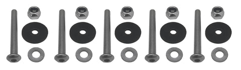 Complete mounting hardware kit for Safe Wedge Protective Partition for golf carts