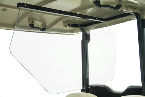 Safe Wedge Protective Partition installed in a Yamaha DRIVE golf cart