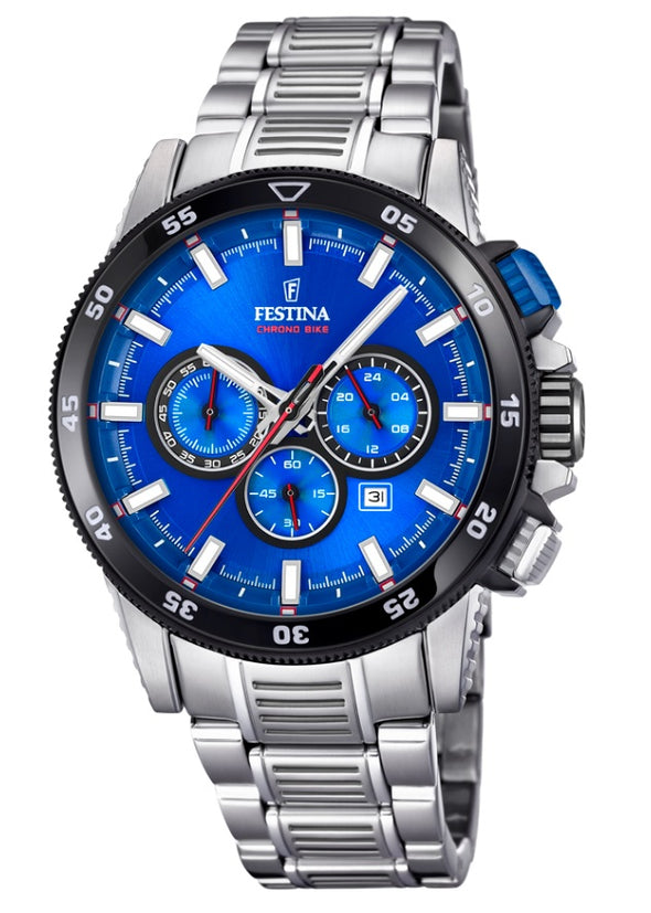 Festina Chrono Bike Analogue Men's Wrist Watch - Blue F20352/2