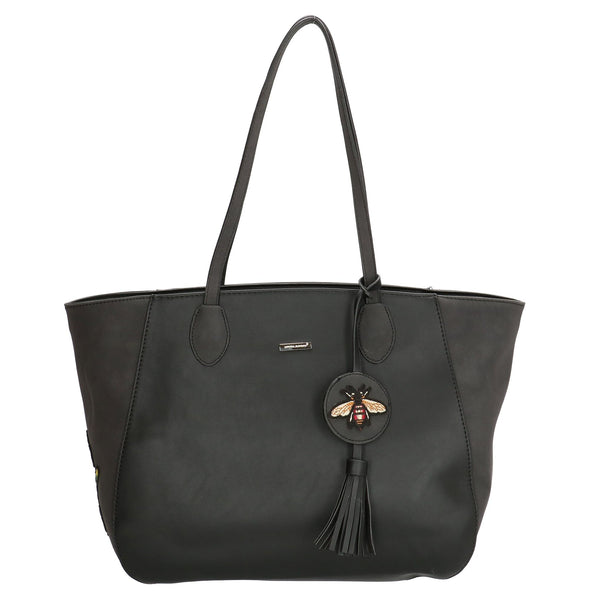 David Jones Paris Ladies Shopper/Tote Bag - Black 3613
