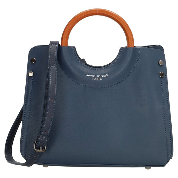 David Jones Paris Ladies Hand Bag - Navy & Brown