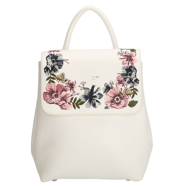 David Jones Paris Ladies Backpack - White & Pink