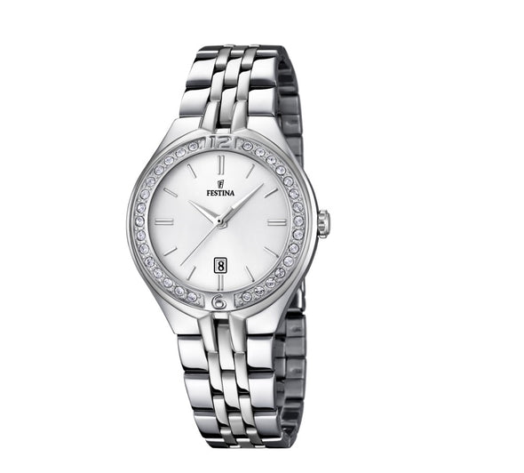 Festina Made Moiselle Analogue Ladies Wrist Watch - Silver F16867-1
