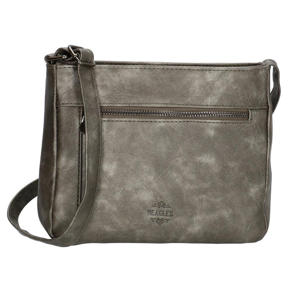 Beagles Lafiguera Ladies PU Shoulder Bag - Dark Silver 16753