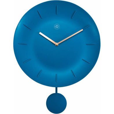 NeXtime 30cm Bowl Plastic Round Wall Clock - Turquoise 7339TQ