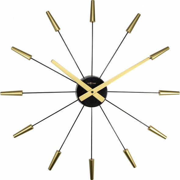 NeXtime 58cm PlugInn Stainless Steel Pointed Wall Clock - Gold