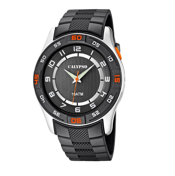 Calypso Analog Mens 10ATM watch - Sober Grey
