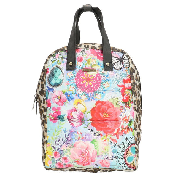 Melli Mello Flower&Leopard Ladies Backpack - Colourful
