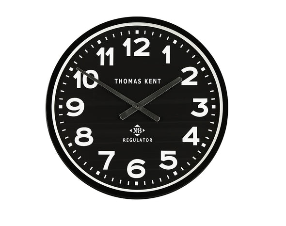 Thomas Kent 54cm Arabic Regulator Round Wall Clock - Black
