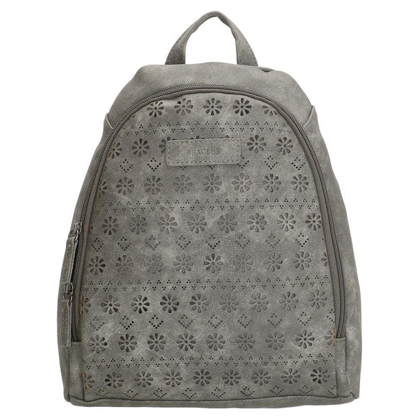 Beagles Carmella Ladies PU Backpack - Grey