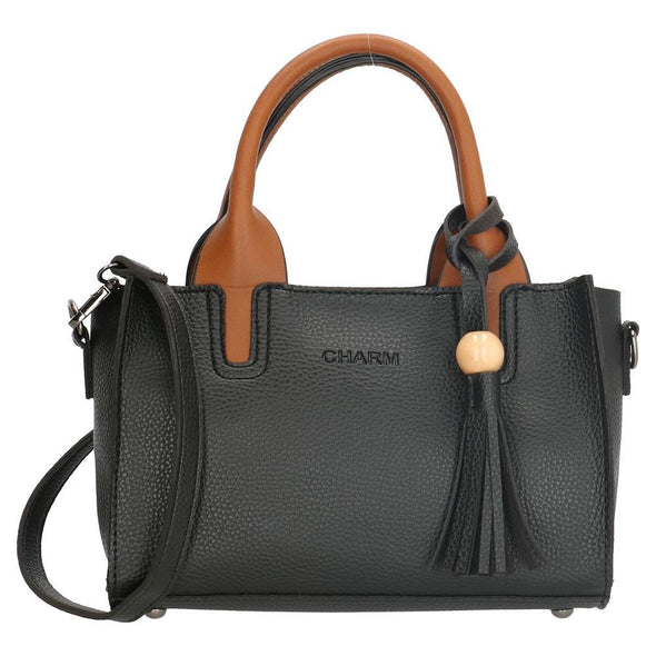 Charm London Covent Garden Ladies PU Hand Bag - Black