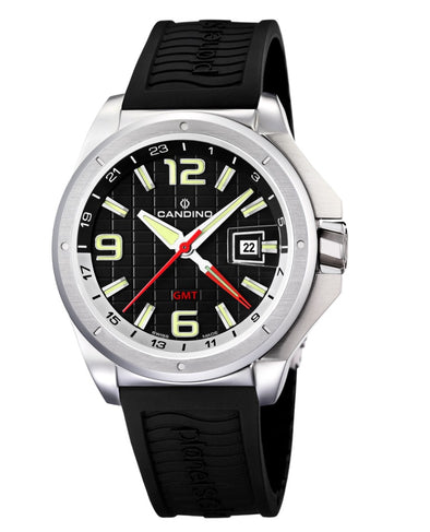 Candino Swiss Made Mens Watch - Solar Planet GMT Collection