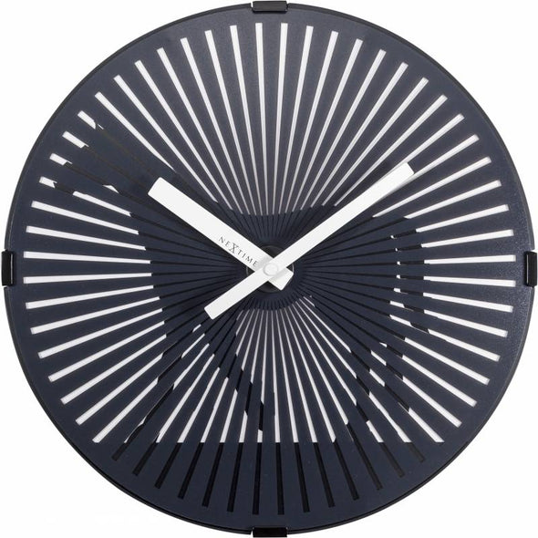 NeXtime 30cm Walking Horse Motion Plastic Round Wall Clock - Black