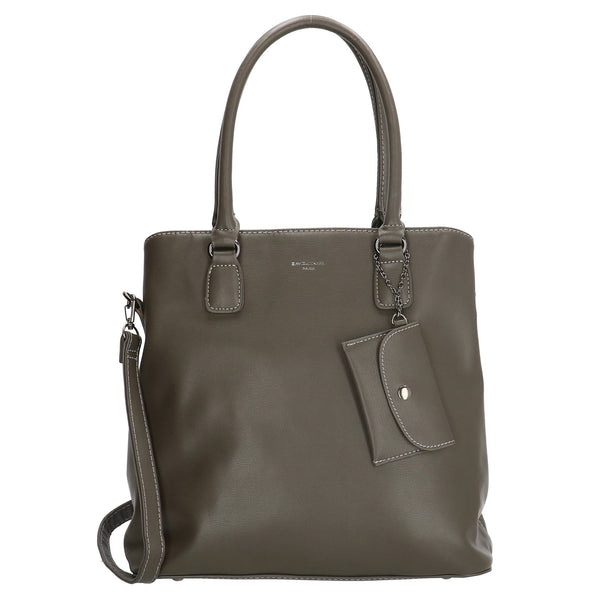 David Jones Paris Ladies PU Shoulder/Hand Bag - Dark Grey 5647-2
