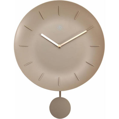NeXtime 30cm Bowl Plastic Round Wall Clock - Off White 7339BE