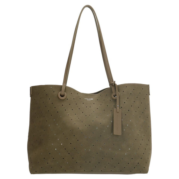 David Jones Paris Ladies Shopper/Tote Bag - Olive 3914