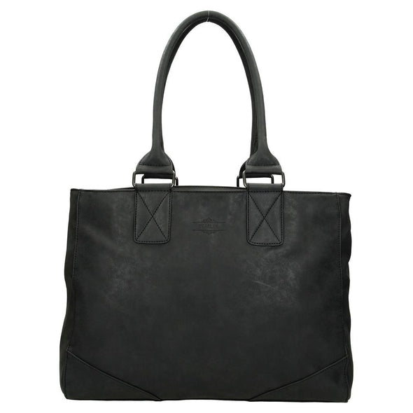 Beagles Alcublas Ladies PU Leather Hand Bag - Black