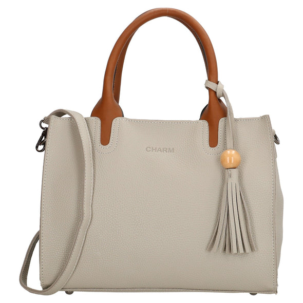 Charm London Covent Garden Ladies Hand Bag - Light Grey 17437