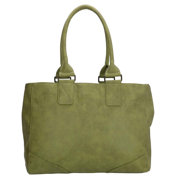 Beagles Alcublas Ladies PU Shopper Bag - Olive