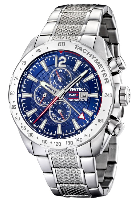 Festina Chrono Sport Analogue Men's Wrist Watch - Stainless Steel F20439/2