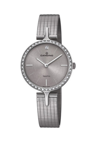 Candino Sapphire Swiss Made Ladies Stainless Steel Watch - Elegance
