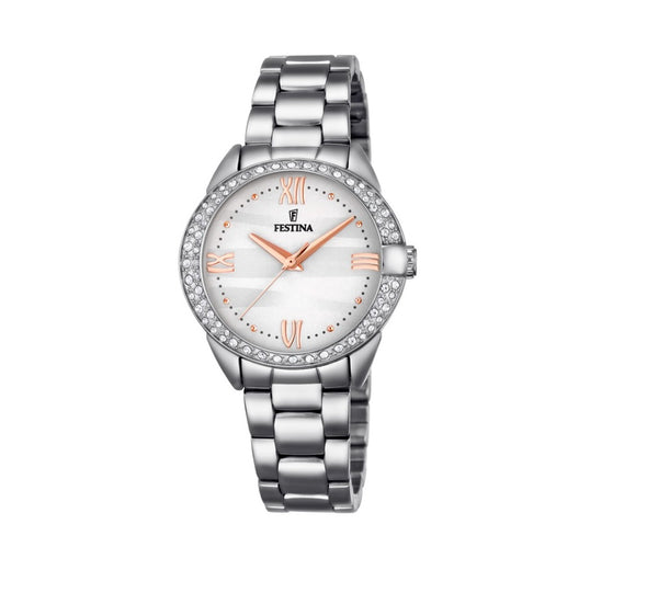 Festina Made Moiselle Analogue Ladies Wrist Watch - Silver F16919-1