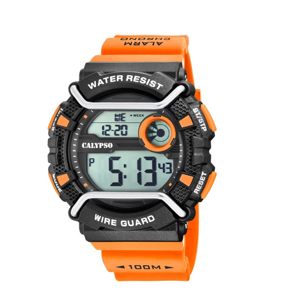 Calpyso Digital Mens Wire Guard Sports Watch - Digital Gent Collection