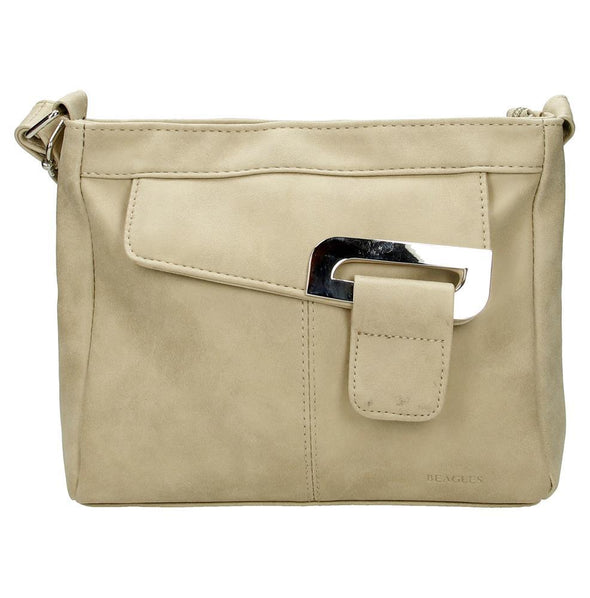 Beagles Serra Ladies PU Leather Shoulder Bag - Sand