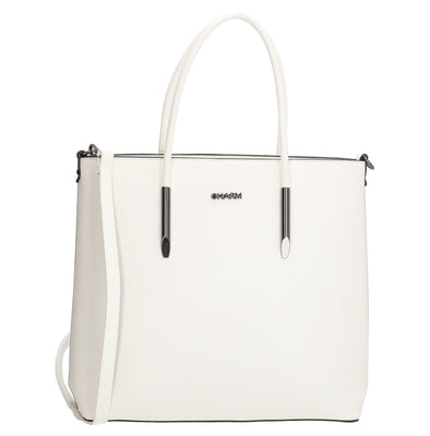 Charm London Birmingham Ladies PU Shopper/Hand Bag - White 16771