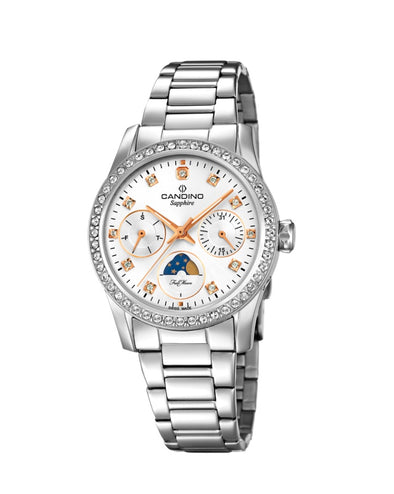 Candino Sapphire Swiss Made Ladies Stainless Steel Watch - Lady Casual