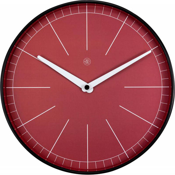 NeXtime 25cm Axel Plastic Round Wall Clock - Red
