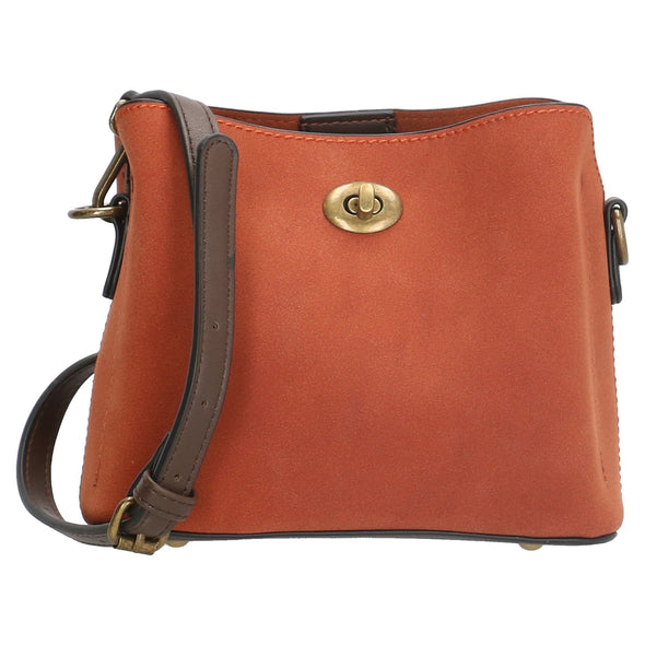 David Jones Paris Ladies Shoulder Bag - Cognac