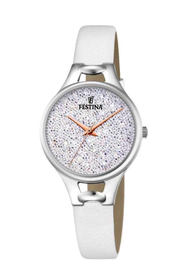 Festina Made Moiselle Analogue Ladies Wrist Watch - White F20334-1