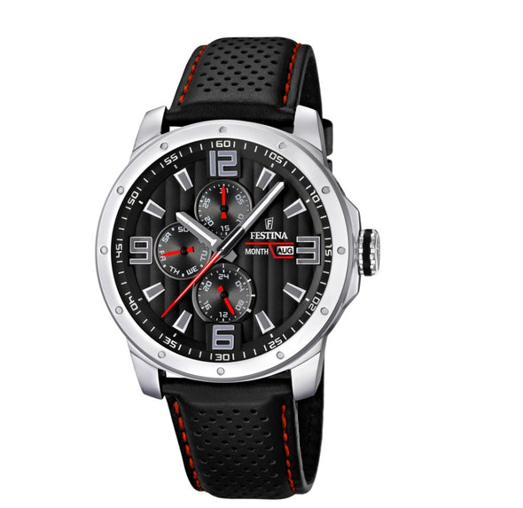 Festina Multi-Function Analogue Men's Wrist Watch with Leather Strap