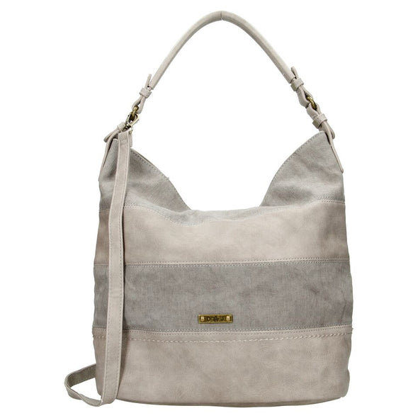 David Jones Paris Ladies Hobbos/Shoulder Bag - Grey 5569-1
