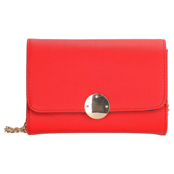 Charm London Canary Wharf Ladies PU Shoulder Bag - Red