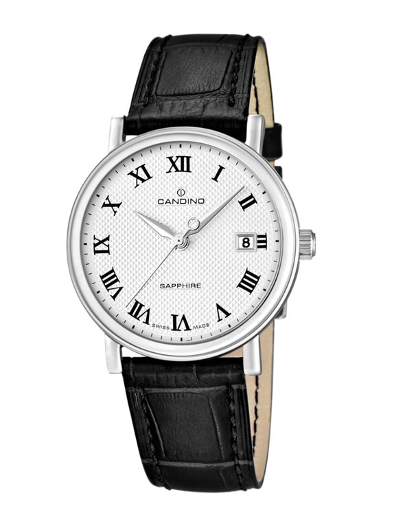 Candino Swiss Made Mens Leather Watch - Classic Timeless Collection