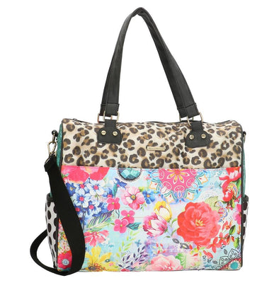 Melli Mello Flower&Leopard Ladies Shoulder Bag - Colourful 17122