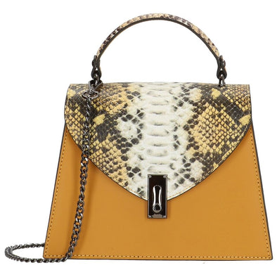 Charm London Elisa Leather Ladies Top Handle Hand Bag - Gold L466