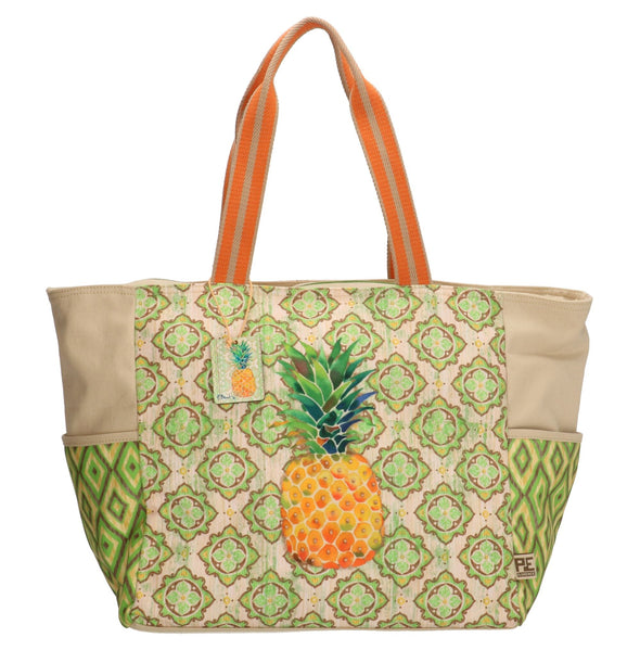 PE-Florence Pineapple Collection Ladies Shopper- Sand Olive