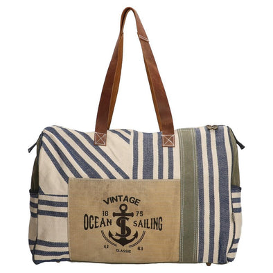 PE-Florence Vintage Ocean Sailing Ladies Shopper Bag - Blue