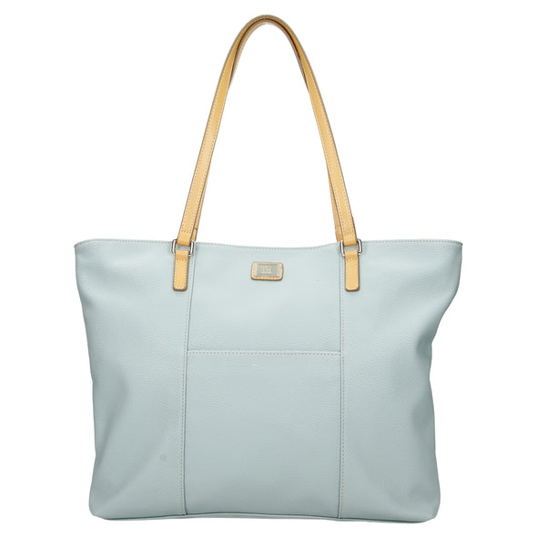 David Jones Paris Ladies Shopper/Tote Bag - Light Blue 5572-2