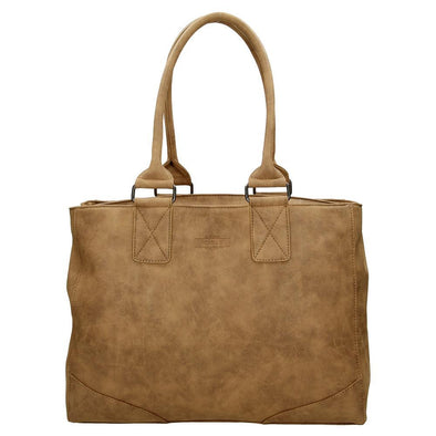 Beagles Alcublas Ladies PU Shopper Bag - Brown 16642