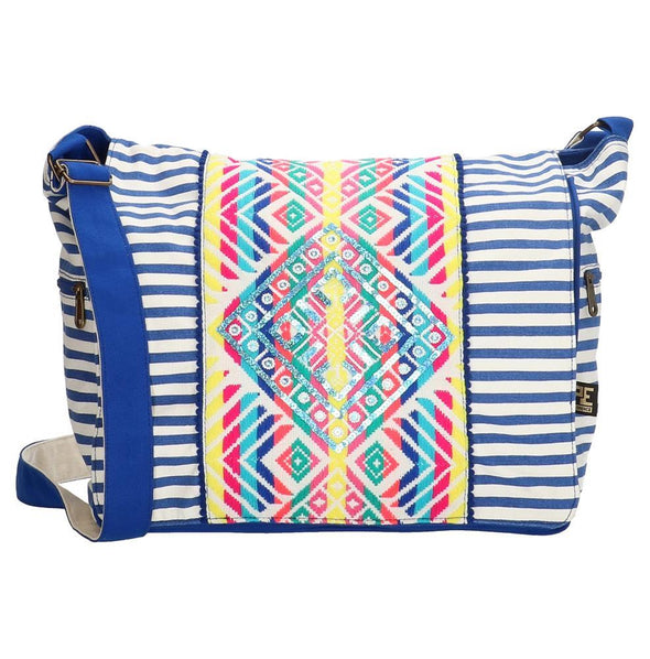 PE-Florence Royal White Ibiza Sun Ladies Shoulder Bag