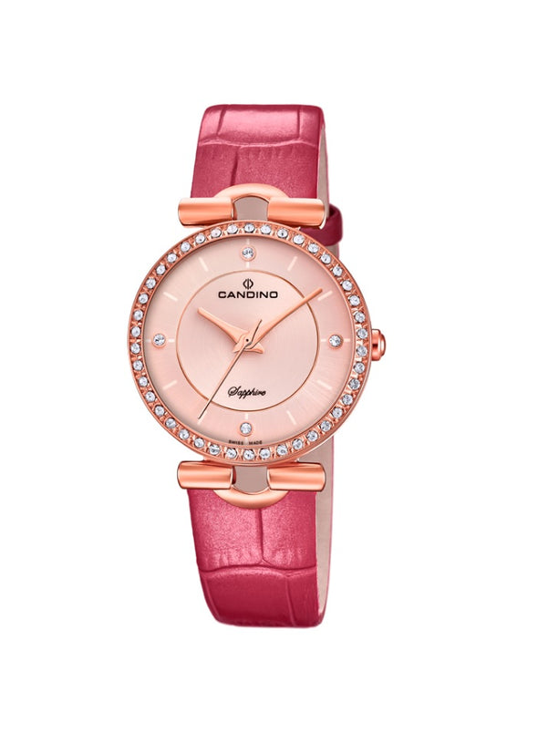 Candino Sapphire Swiss Made Ladies Leather Watch - Lady Elegance