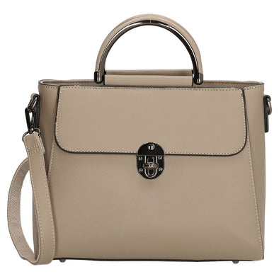 Charm London Canary Wharf Ladies Hand Bag - Light Taupe 17693