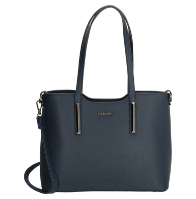 Charm London Birmingham Ladies PU Shopper/Hand Bag - Navy 17146