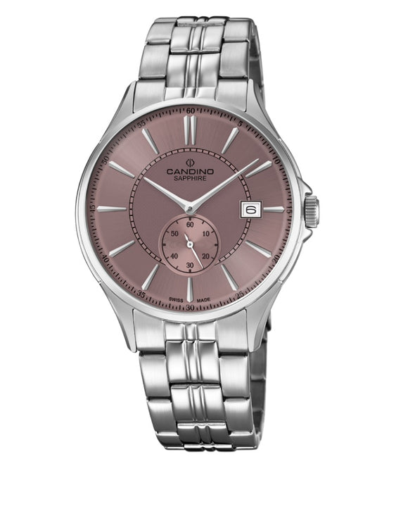 Candino Swiss Made Mens Stainless Steel Watch - Timeless Gents Collection